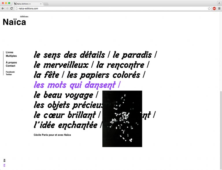 Naïca éditions — website