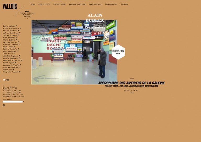 Galerie Georges-Philippe et Nathalie Vallois — website